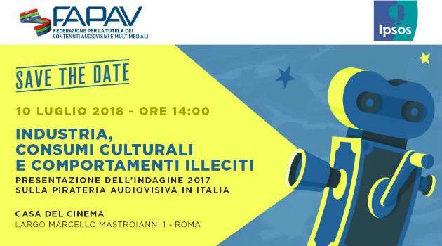 Presentazione indagine FAPAV/IPSOS sulla pirateria audiovisiva in Italia